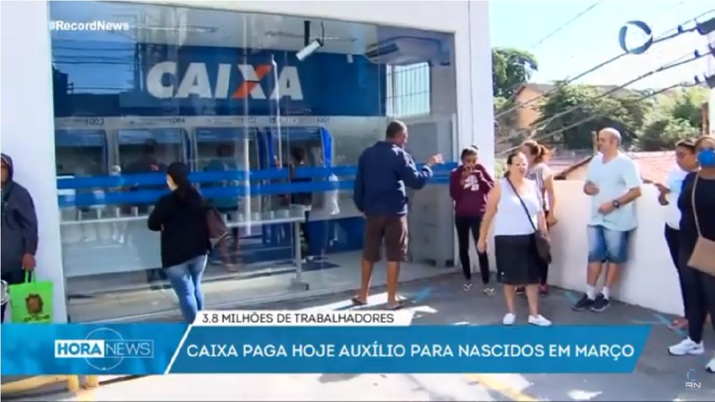 Caixa paga Auxílio Emergencial para quase 4 milhões de beneficiários nesta quarta-feira