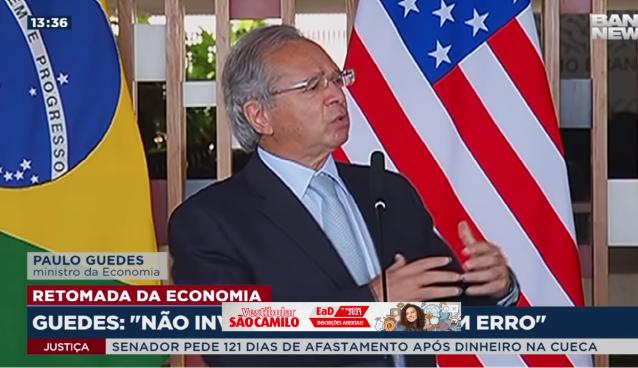 Ministro Paulo Guedes diz que o Brasil está se abrindo à outros países