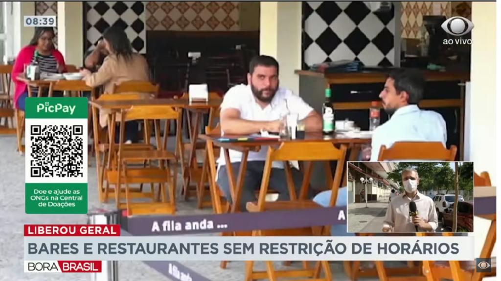 No Rio de Janeiro Bares e restaurantes não tem mais restrição de horário