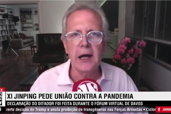"""Augusto Nunes avalia pedido de união de Xi Jinping e critica """"Pede união contra a pandemia que ela pariu, escondeu, exportou e agora lucra"""""""