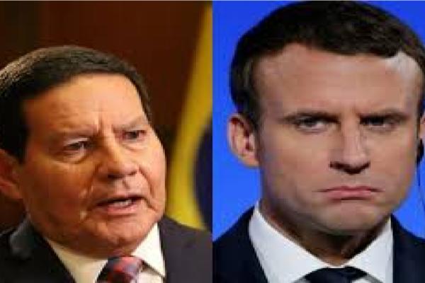 """General Mourão rebate aos ataques do presidente da França e diz """"Macron desconhece a produção de soja de Brasil"""""""