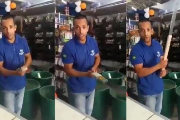 Vendedor Baiano faz ameaças ao presidente Bolsonaro