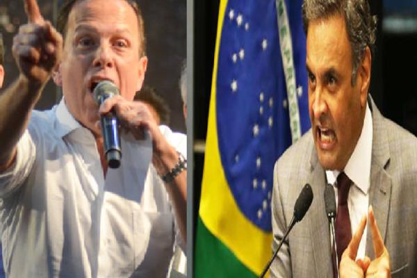 """Aécio retruca João Dória: """"PSDB não tem dono"""""""